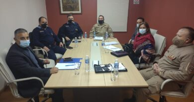 Reunión Institucional para la creación de la división investigaciones de la Patrulla Rural.